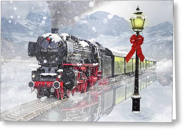 The Polar Express Greeting Card by Juli Scalzi