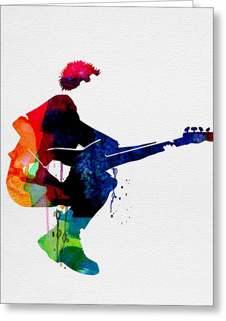 Rock Star Prints Greeting Cards - The Police Watercolor Greeting Card by Naxart Studio