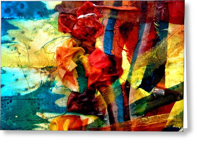 Nature Abstract Tapestries - Textiles Greeting Cards - The Pond Greeting Card by Beverly Johnson