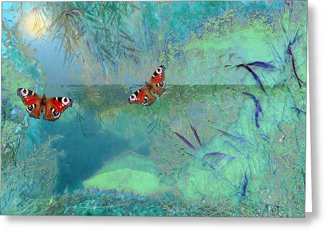 The Pond Greeting Card by Valerie Anne Kelly