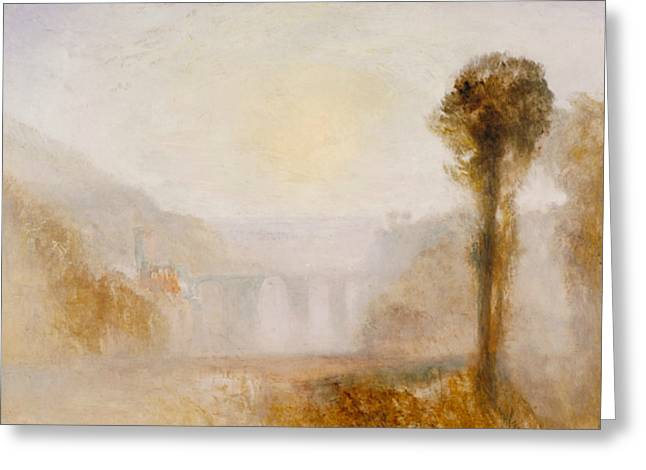 The Ponte Delle Torri Spoleto Greeting Card by Joseph Mallord William Turner