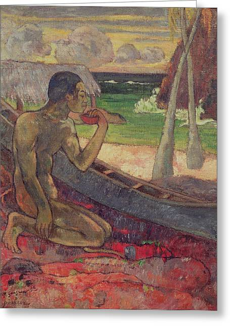 Sailing Boat Greeting Cards - The Poor Fisherman Greeting Card by Paul Gauguin