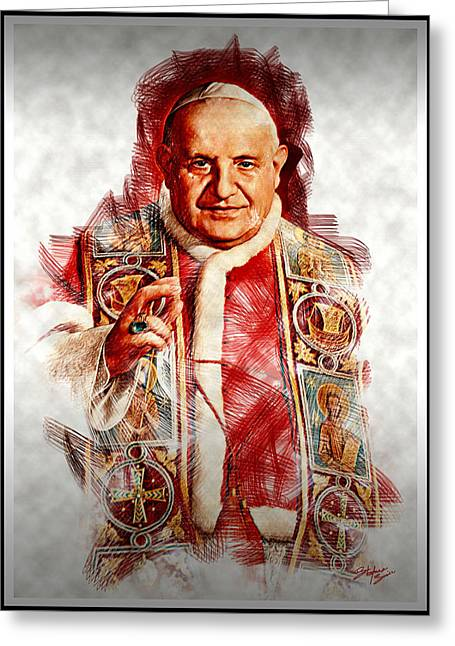 Bible Digital Art Greeting Cards - The Pope Greeting Card by Stefano Senise