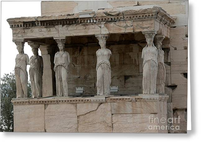 Caryatids Greeting Cards - The Porch of the Caryatids Greeting Card by David Bearden