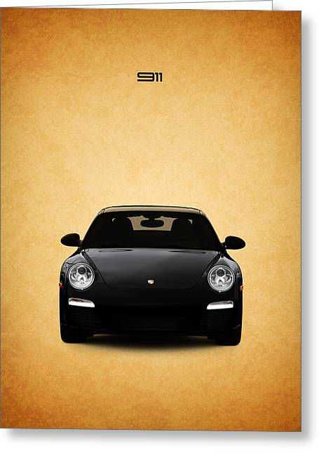Porsche Greeting Cards - The Porsche 911 Greeting Card by Mark Rogan
