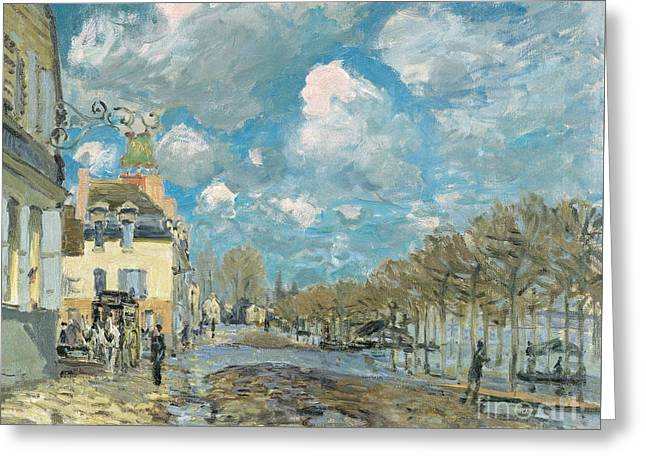 Marly Greeting Cards - the Port-Marly Greeting Card by Celestial Images