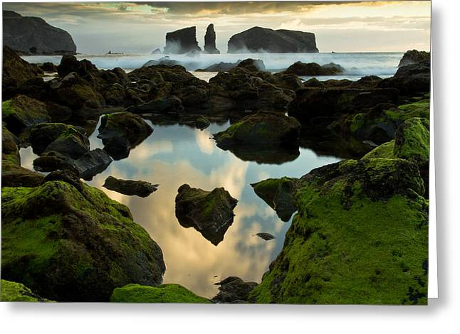 Azores Greeting Cards - The Portal Greeting Card by Filipe Lourenco