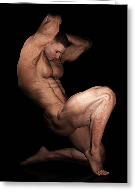 Pecs Digital Greeting Cards - The Pose Greeting Card by Farcon Ville