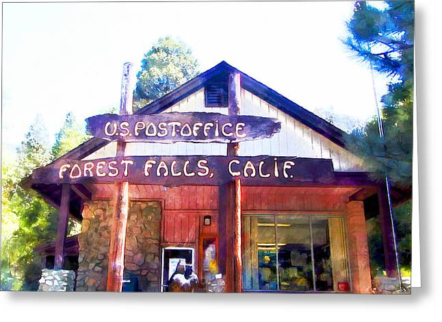 Oak Creek Greeting Cards - The Post Office Greeting Card by Ruth Moratz