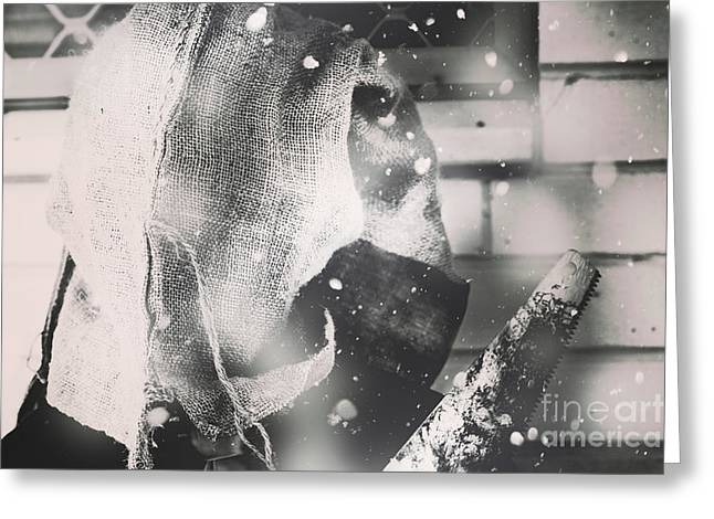 The Potato Bag Butcher Greeting Card by Jorgo Photography - Wall Art Gallery