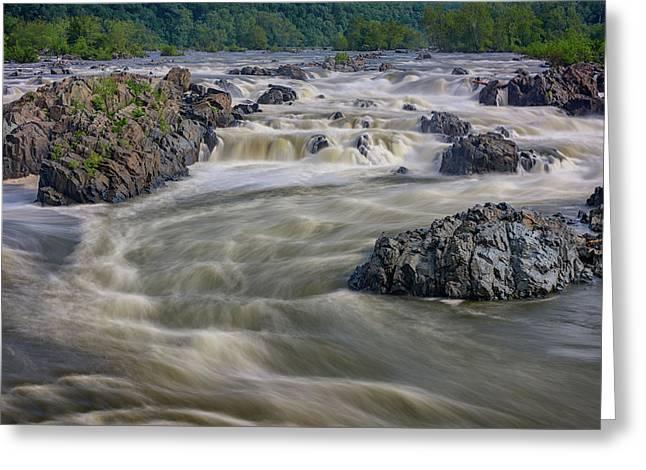The Potomac Greeting Card by Rick Berk