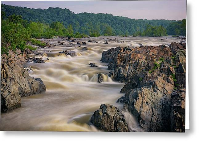 The Potomac River At Great Falls Greeting Card by Rick Berk