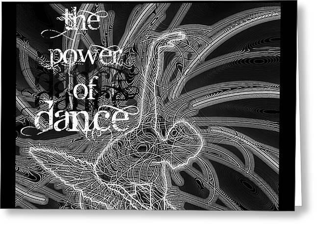 Ballet Dancers Drawings Greeting Cards - The Power Of Dance Ballet Greeting Card by Dale Crum