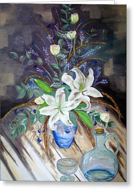 Water Jug Greeting Cards - The power of Flowers Greeting Card by Sunel De Lange
