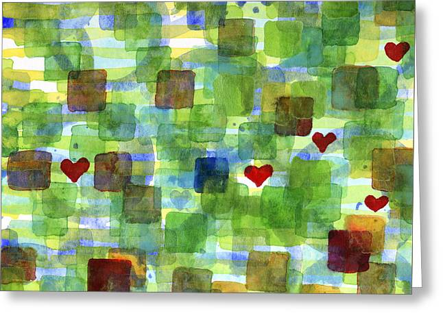 Transparency Geometric Greeting Cards - The Power of Love Greeting Card by Heidi Capitaine
