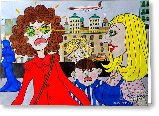 Cartoonist Greeting Cards - The Power of Mind Greeting Card by Don Pedro De Gracia