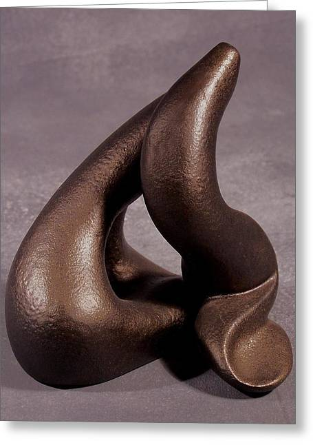Shape Sculptures Greeting Cards - The Power Of Point  Greeting Card by Lonnie Tapia