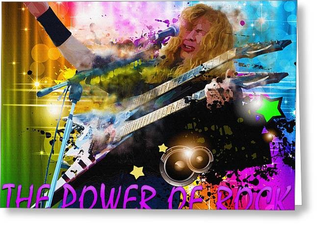 The Power Of Rock Greeting Card by Don Kuing