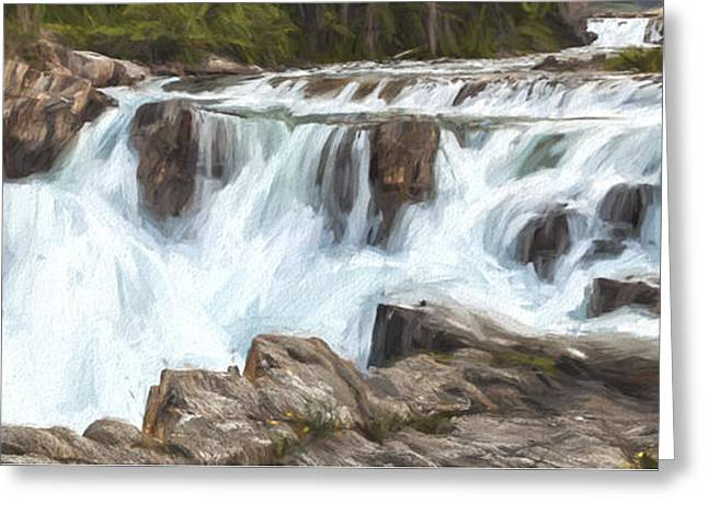 The Power Of The Falls IIi Greeting Card by Jon Glaser