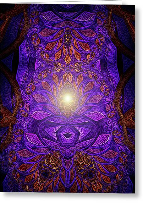 Strength Spiritual Greeting Cards - The Power Within Greeting Card by Mimulux patricia no