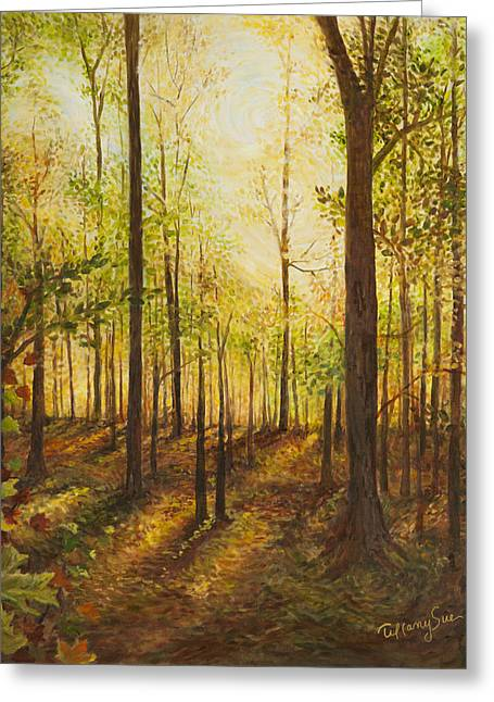 Sacred Grove Greeting Cards - The Prayer Lingers Greeting Card by Tiffany Sue