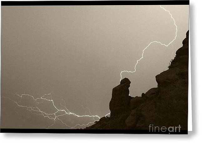 The Praying Monk Camelback Mountain Greeting Card by James BO  Insogna