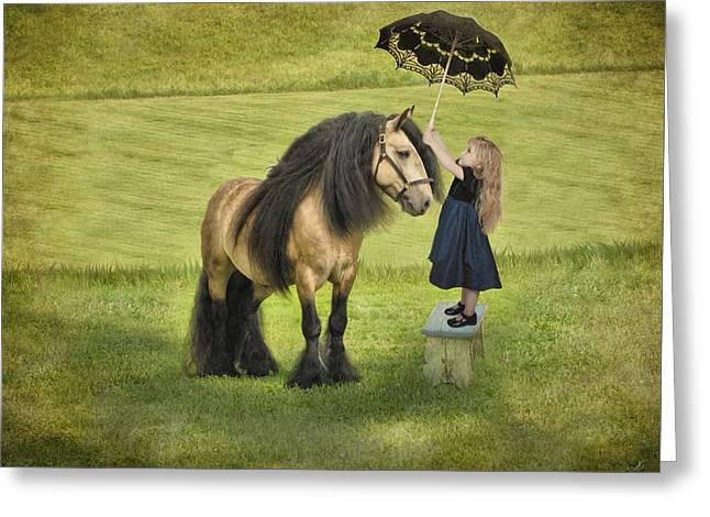 Gypsy Greeting Cards - The Precious Companion Greeting Card by Fran J Scott