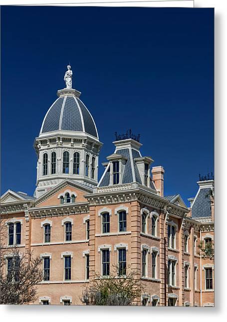 Marfa Texas Greeting Cards - The Presidio County Courthouse - Marfa Texas Greeting Card by Mountain Dreams