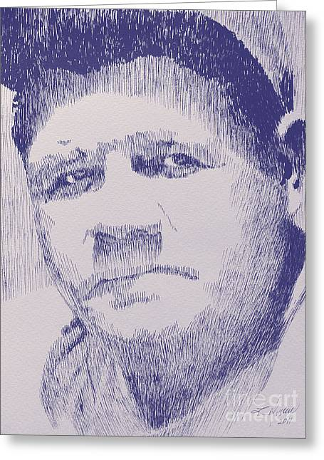Robbi Musser Drawings Greeting Cards - The Pride of the Yankees Greeting Card by Robbi  Musser