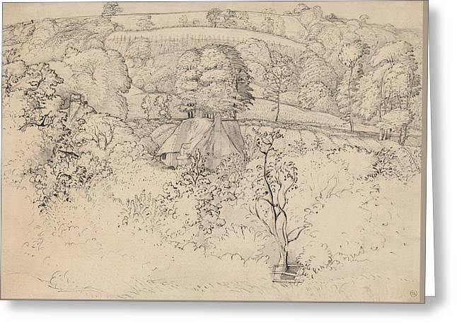 The Primitive Cottage, Shoreham Greeting Card by Samuel Palmer