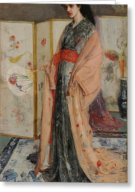 James Abbott Mcneill Whistler Greeting Cards - The Princess from the Land of Porcelain Greeting Card by Celestial Images