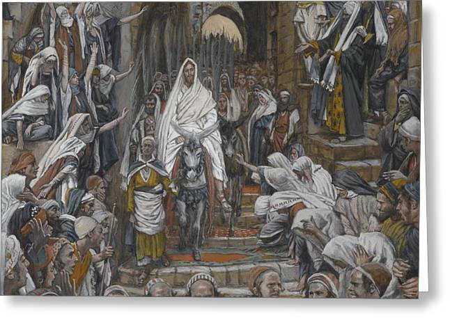 The Procession in the Streets of Jerusalem Greeting Card by Tissot
