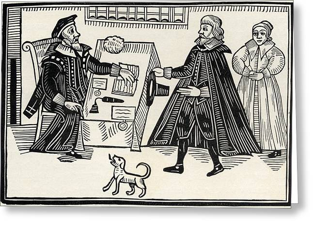 Magistrates Greeting Cards - The Proctor And Parator. From The Book Greeting Card by Ken Welsh