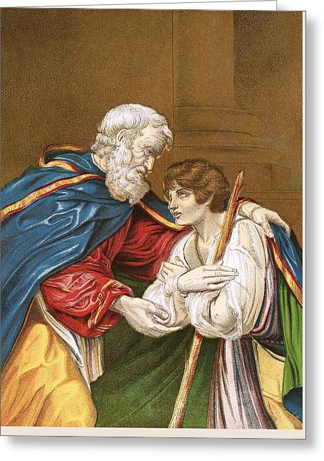 The Prodigal Son Greeting Card by English School