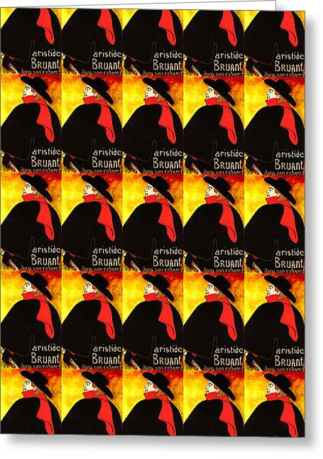 Black Scarf Greeting Cards - The Proletariat Greeting Card by David Bridburg
