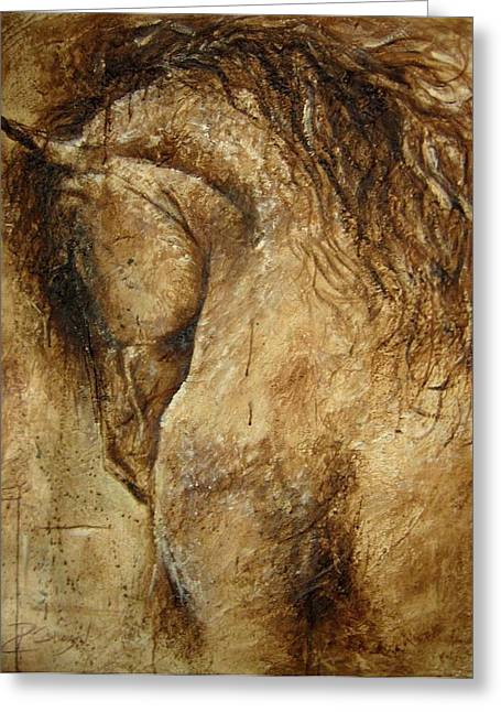 The Promise Of A Horse Greeting Card by Paula Collewijn -  The Art of Horses