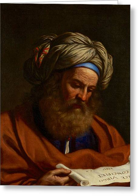 Isaiah Paintings Greeting Cards - The Prophet Isaiah Greeting Card by Celestial Images