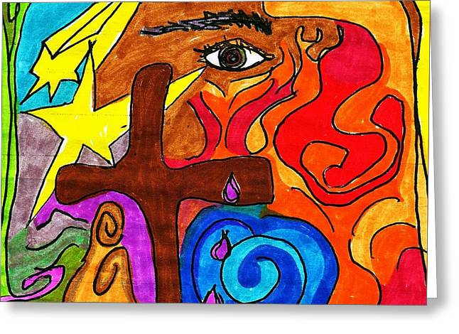 Bible Pastels Greeting Cards - The Prophet Greeting Card by Martin Cline