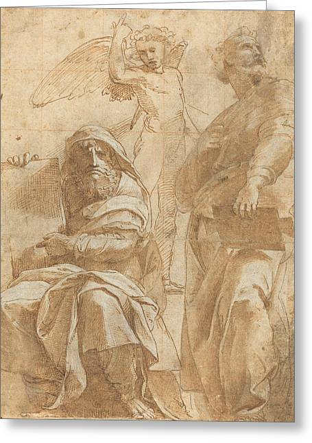 The Prophets Hosea And Jonah Greeting Card by Raphael