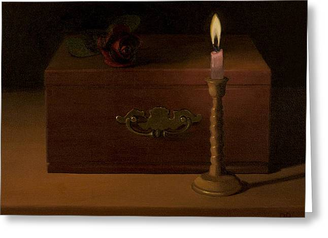 Candle Lit Greeting Cards - The Proposal Greeting Card by David John Dietrich