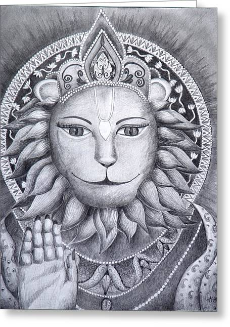 Incarnation Paintings Greeting Cards - The Protector Greeting Card by Christine  Sherwood