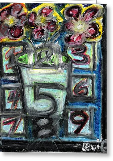 Levi Pastels Greeting Cards - The Psychic Telephone Greeting Card by Levi Glassrock