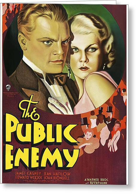 The Public Enemy Movie Lobby Promotion  1931 Greeting Card by Daniel Hagerman