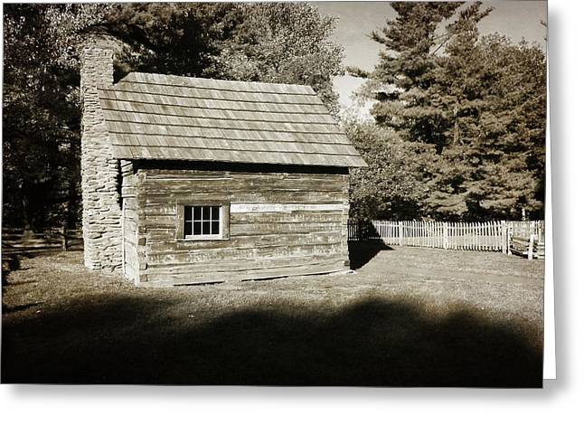 The Puckett Cabin Greeting Card by George Martinez