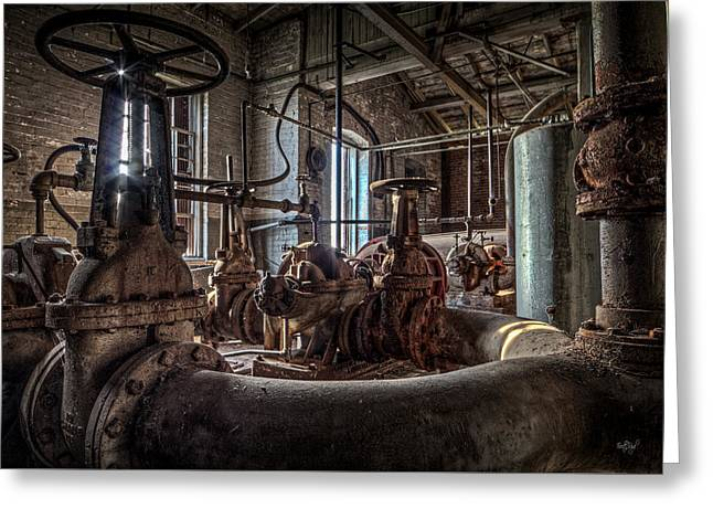The Pumphouse Greeting Card by Everet Regal