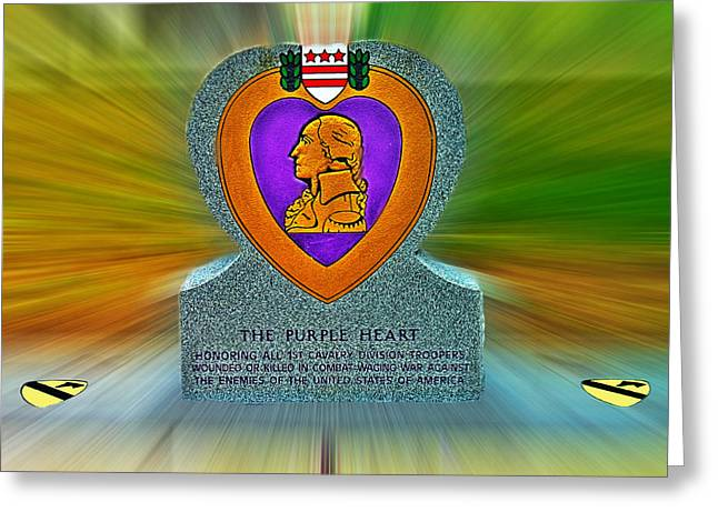 the Purple Heart Greeting Card by Francisco Colon