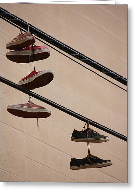 Shoe String Greeting Cards - The Pushers Greeting Card by Jerry Cordeiro