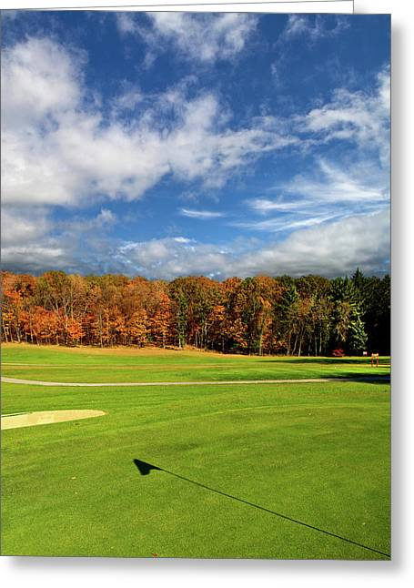 Wisconsin Golf Greeting Cards - The Putting Green Greeting Card by Phil Koch
