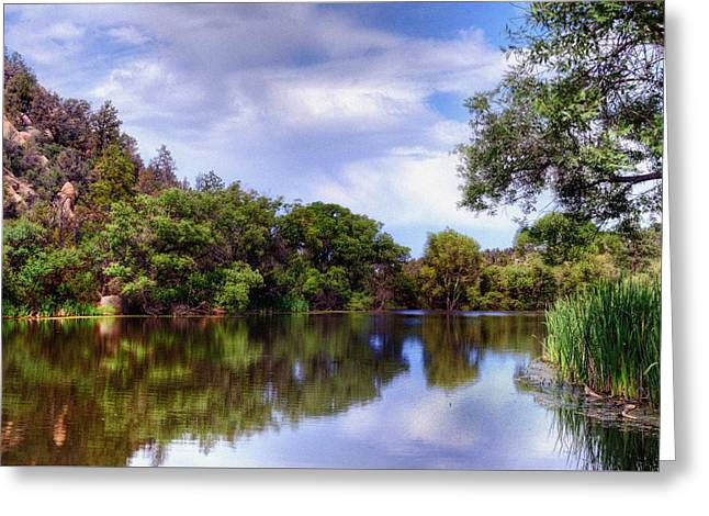 Prescott Greeting Cards - The Quietness of Natures Blessings Greeting Card by Thomas  Todd