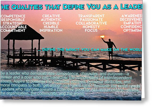 Initiative Greeting Cards - The Qualities that Define You as a Leader  Greeting Card by Adam Asar